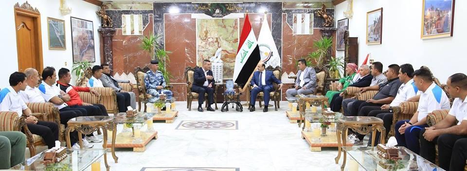 محافظ-البصرة-يلتقي-وفدا-من-رياضيي-العراق