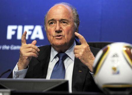 Mesto: Cirih Datum: 23.04.2010 Dogadjaj: SPORT - FUDBAL - konferencija za novinare predsednika FIFA Jozefa Blatera  Licnosti: Joseph Blatter