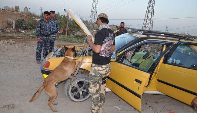 ضبط 20 سيارة محملة بالأسلحة يقودها ارهابيون حاولوا دخول كربلاء