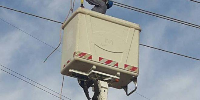 مديرية توزيع كهرباء شمال البصرة إنجاز اعمال صيانة وقائية لخطوط الشبكة الكهربائية 33/11 KV شمال البصرة