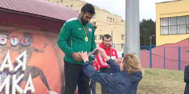 البطل العراقي مصطفى كاظم داغر يحصل على المركز الأول في بطولة ودية في بيلاروسيا