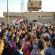 المئات من ابناء قضاء شط العرب في البصرة يتظاهرون احتجاجاً على مشروع الخصخصة وتخفيض اجور الكهرباء