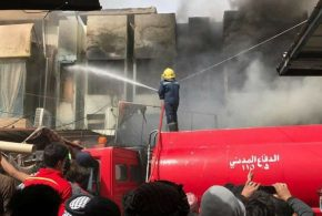 اندلاع حريق في سوق قضاء الزبير