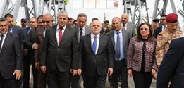رئيس الوزراء يفتتح الجسر القديم في الموصل