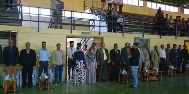 المعهد التقني في كربلاء يقيم احتفالية رفع الحضر عن الملاعب العراقية