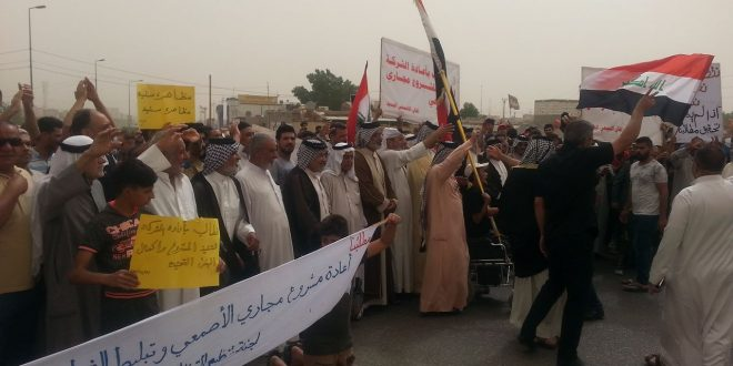 شرارة تظاهرات منطقة القبلة تنتقل إلى منطقة الأصمعي الجديد
