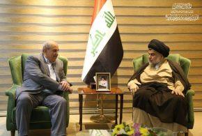 الصدر وعلاوي يتفقان على الاسراع بتشكيل الحكومة والابتعاد عن التخندقات والاصطفافات