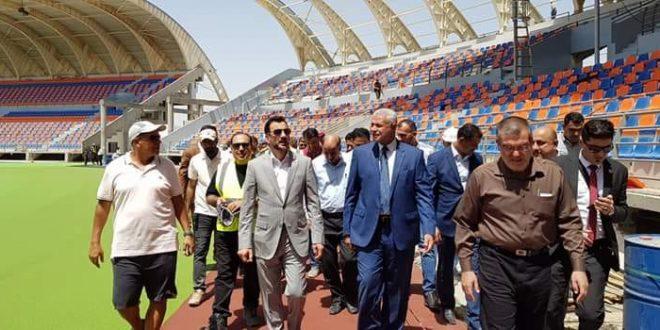 وزير الشباب والرياضة يزور ملعب الكوت الأولمبي للاطلاع على مراحل إنجاز الملعب الاخيرة