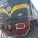 جنوح قاطرة قطار قرب محطة ام قصر بسبب التجاوز على قضبان السكك