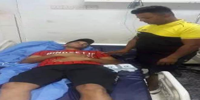مدرب و14 لاعبا من فريق الحسين الكروي يتعرضون لتسمم أثناء وصولهم البصرة