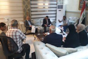 محافظ البصرة يناقش مع وكيل وزارة المالية حول موضوع (١٠) الاف درجة وظيفية