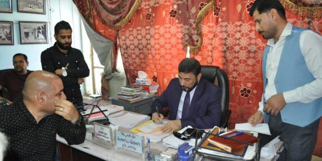 مدير عام تربية البصرة يقوم بجولة ميدانية في عدد من أقسام المديرية ويتفقد دورة المحاسبين