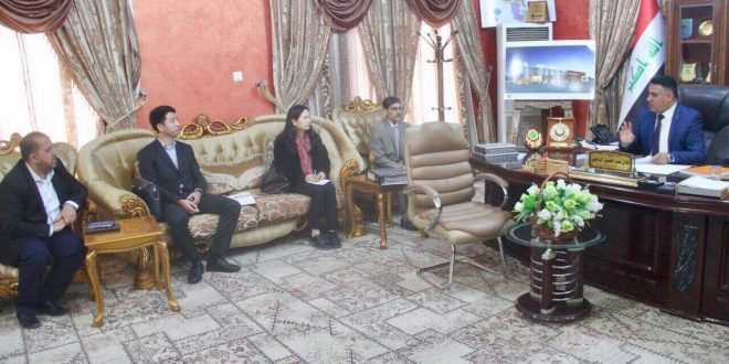 الدخيلي يعرض على شركة صينية مشروع تأهيل البنى التحتية لعدد من مناطق مركز مدينة الناصرية