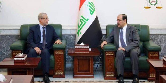 رئيس ائتلاف دولة القانون السيد نوري المالكي يستقبل نائب رئيس مجلس النواب