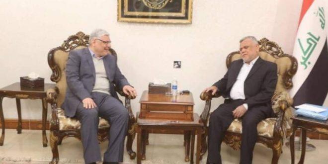 هادي العامري يبحث مع جعفر الصدر مستجدات المشهد السياسي