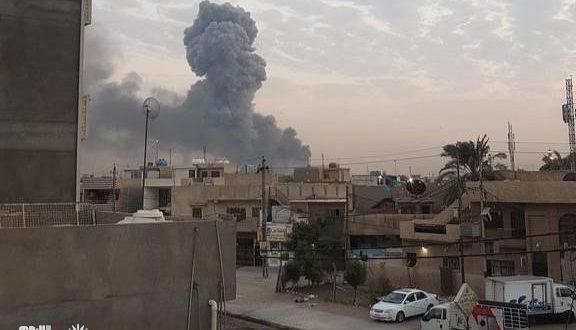 انفجار كدس للعتاد جنوب العاصمة بغداد في اول ايام عيد الاضحى المبارك