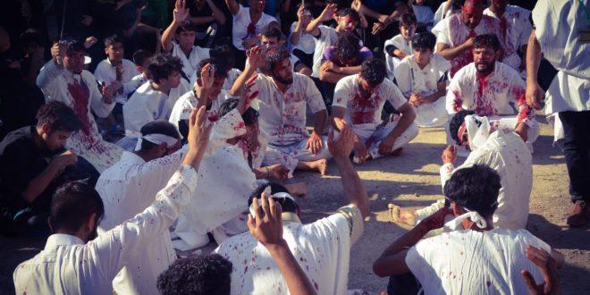 هيئة آهات الحسين (ع) في الهارثة يتواصل بشعيرة التطبير