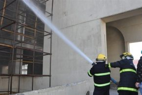 اندلاع النيران مجددا ببناية المطعم التركي وسط بغداد