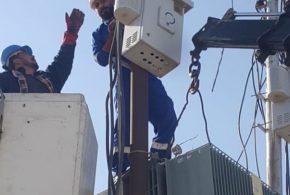 خدمات الهوير من فرع توزيع كهرباء شمال البصرة تنجز عمل صيانة ضرورية وقائية طارئة لمحولات و خطوط الشبكة الكهربائية