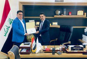 مدير عام البنك المركزي العراقي فرع البصرة يستقبل ممثل الشركة العراقية لخدمات نقل الاموال