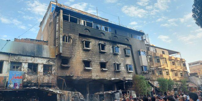 حريق وسط كربلاء.. وفاة طفلة وانقاذ 78 نزيلا