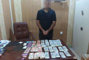 إجرام كربلاء تحكم قبضتها على متهم قام بسرقة مبلغ قدره (20) مليون وكارتات تعبئه